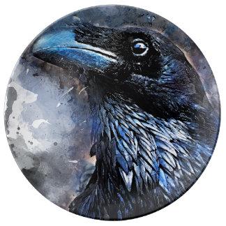 Crow art #crow #bird #animals plate
