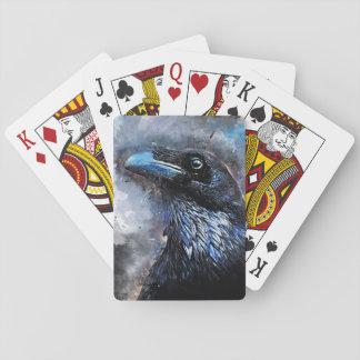 Crow art #crow #bird #animals playing cards