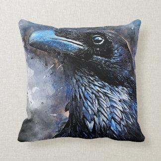 Crow art #crow #bird #animals throw pillow