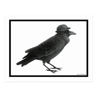 Crow Art Post Card