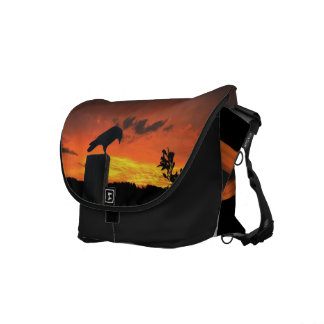 Crow at Sunset Commuter Bag