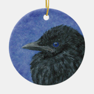 Crow Baby Ornament