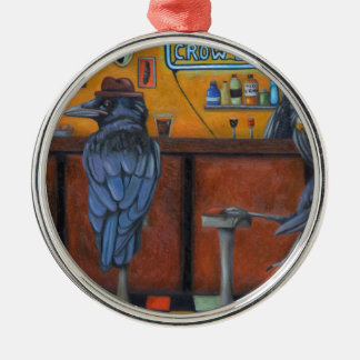 Crow Bar Silver-Colored Round Ornament