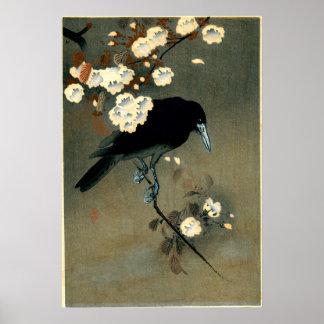 Crow & Blossom by Ohara Koson (1910) Poster