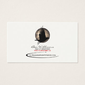 Crow Business Card (W/ Moon Backdrop)