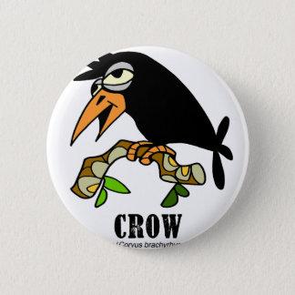 Crow by Lorenzo © 2018 Lorenzo Traverso 2 Inch Round Button