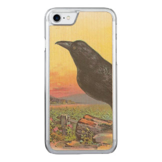 Crow Carved iPhone 7 Case