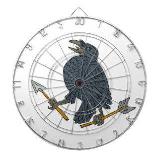 Crow Clutching Broken Arrow Drawing Dartboard