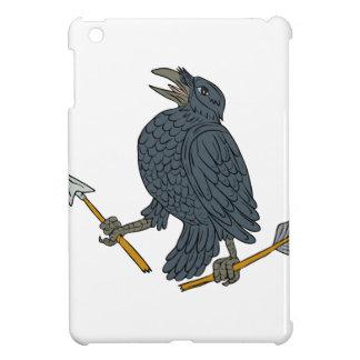 Crow Clutching Broken Arrow Drawing iPad Mini Cases