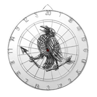 Crow Clutching Broken Arrow Tattoo Dartboard