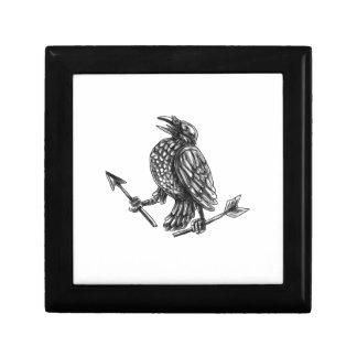 Crow Clutching Broken Arrow Tattoo Gift Box