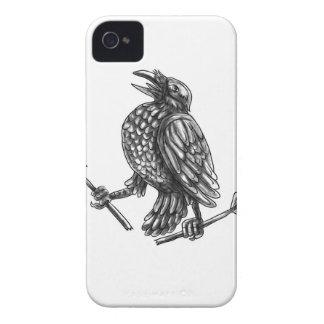 Crow Clutching Broken Arrow Tattoo iPhone 4 Cover