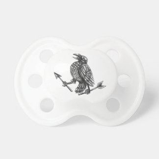 Crow Clutching Broken Arrow Tattoo Pacifier