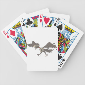 Crow Creepy Zombie With Rotting Flesh Outlined Bicycle Playing Cards