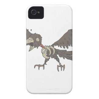 Crow Creepy Zombie With Rotting Flesh Outlined iPhone 4 Cover
