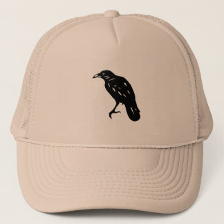 CROW crow cutting picture cutout picture Trucker Hat