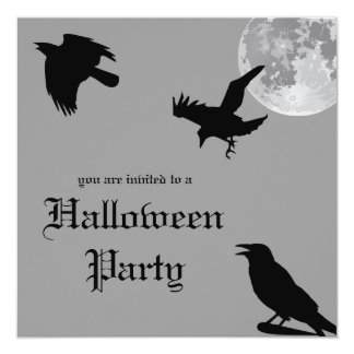 Crow Dance Halloween Party Invitation