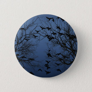 Crow flock 2 inch round button
