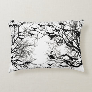 Crow flock decorative pillow