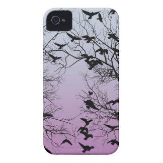 Crow flock iPhone 4 Case-Mate cases
