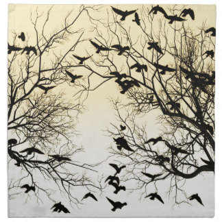Crow flock napkin