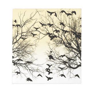 Crow flock notepad