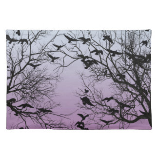 Crow flock placemat