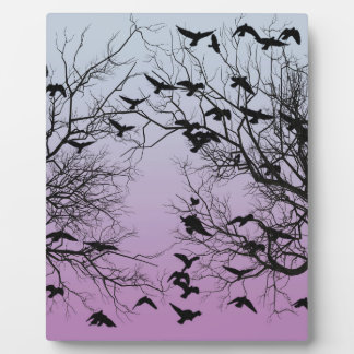 Crow flock plaque