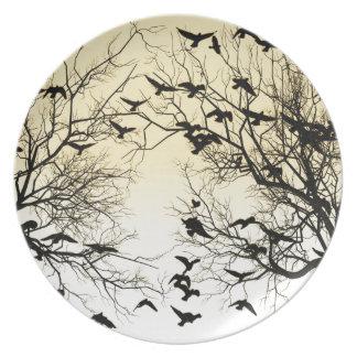 Crow flock plate