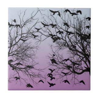 Crow flock tile