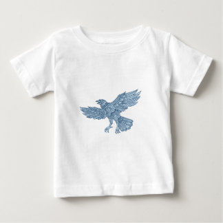 Crow Flying Mandala Baby T-Shirt