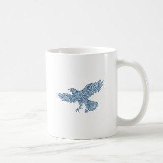 Crow Flying Mandala Coffee Mug