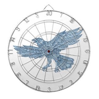 Crow Flying Mandala Dartboard