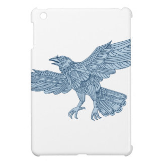 Crow Flying Mandala iPad Mini Cover