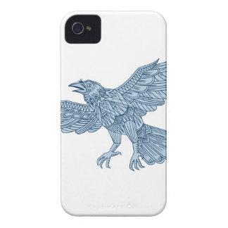 Crow Flying Mandala iPhone 4 Case