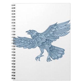 Crow Flying Mandala Notebook