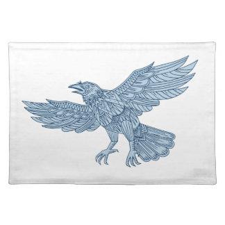 Crow Flying Mandala Placemat