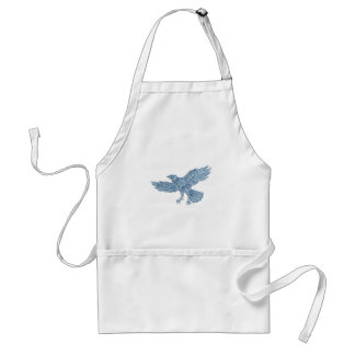 Crow Flying Mandala Standard Apron