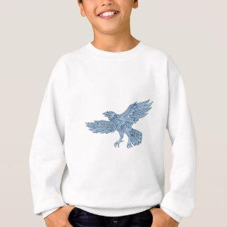 Crow Flying Mandala Sweatshirt