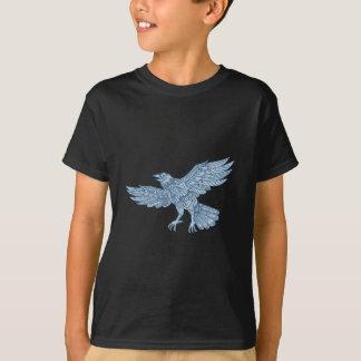 Crow Flying Mandala T-Shirt