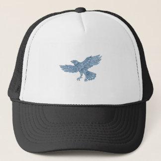 Crow Flying Mandala Trucker Hat