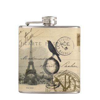Crow Globe Paris Flask