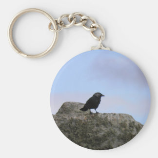 Crow guardian of Stone Henge Basic Round Button Keychain