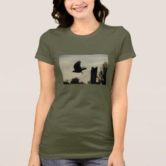 Crow in flight T-Shirt