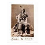 Crow Indian 1880 Vintage Native American Post Card