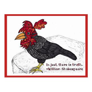 Crow Jester Postcard