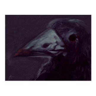 Crow left postcard