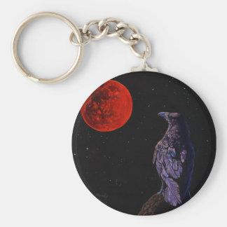 Crow Moon Keychain