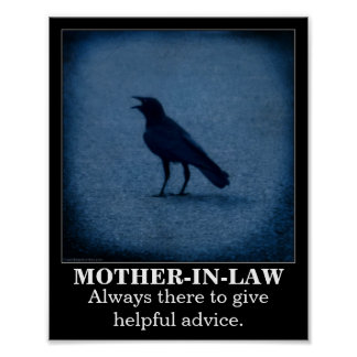 Crow mother-in-law demotivational poster