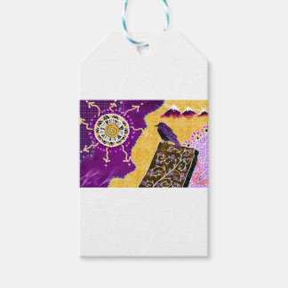 Crow on a book gift tags